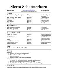Resume Of Mine Resume U2014 Sierra Schermerhorn