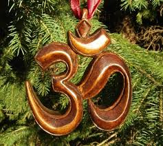 om for the holidays hand carved christmas ornaments in oak by