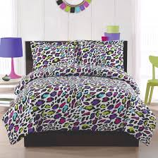 girls purple bedding bedding sets for girls print livin large leopard comforter sham