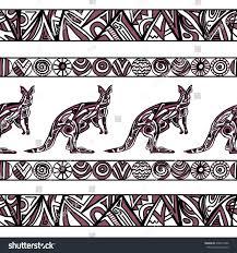 vector illustration seamless kangaroo ornament stock vector