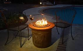 How To Make A Gas Fire Pit by Diy Make A Portable Propane Fire Pit Out Of A Flower Pot The