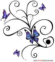 45 tribal butterfly designs