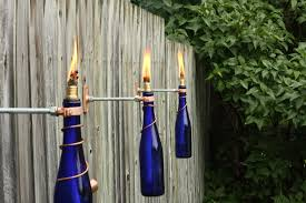 single 375 ml glass wine bottle tiki torch gift for mom