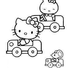 kitty coloring pages movement kitty running