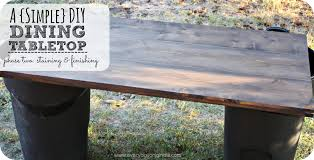 staining a table top how to stain a diy dining table top