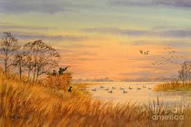 duck hunting painting duck hunting calls by bill holkham