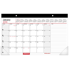 Office Depot Desk Calendars Office Depot Brand Monthly Desk Pad Calendar 17 X 11 30percent