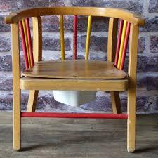 mobilier vintage enfant petite chaise de propreté pour enfant lignedebrocante brocante