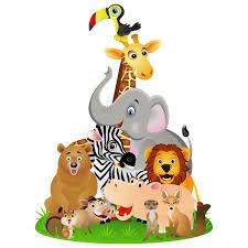 stickers repositionnables chambre bébé sticker animaux jungle décoration afrique pour chambre bébé