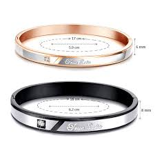 personalized bangle bracelets teamo his and hers bracelets true engraved gold bangle