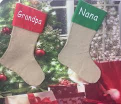 personalized christmas stockings grandpa nana nanny grandma kids