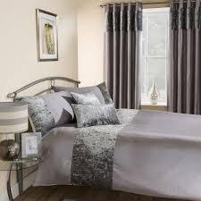 amalfi silver crushed velvet quilt duvet cover tonys