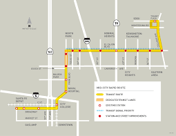Trolley Map San Diego by Mid City Rapid Introduction