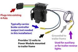 wiring tow vehicle to work with tekonsha prodigy rf 90250