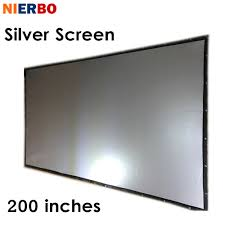 home theater projector screens aliexpress com buy nierbo 200 inches projector silver screen
