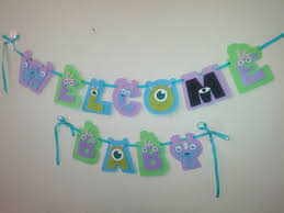 monsters inc baby shower ideas baby shower banner wording ideas welcome baby baby shower banner