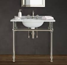 Console Sinks Bathroom Metal Console Sink Open Travel