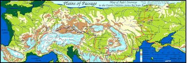 North European Plain Map by Plains Of Passage Clickable Map Of The Danube