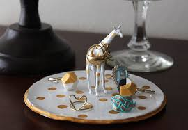 golden giraffe ring holder images Diy ring dish jpg