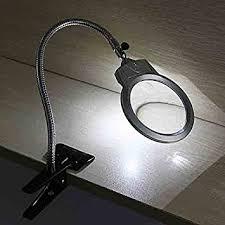 led lighted desk magnifying l desk magnifying glass amazon com 2 25x 5x led table l