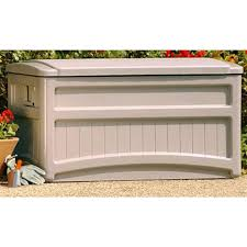 suncast deck box with wheels 138435 patio storage at