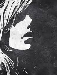 black and white painting ideas black white minimalist abstract painting woman face silhouette