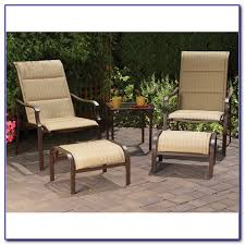 patio furniture with ottomans patio chair with ottoman underneath patios home design ideas