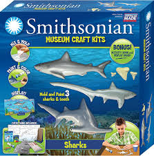 amazon com smithsonian sharks perfectcast museum craft kit toys