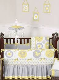 yellow toddler bedding sets flower appliqued nursery 8pc