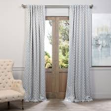 half price drapes casablanca blackout single curtain panel