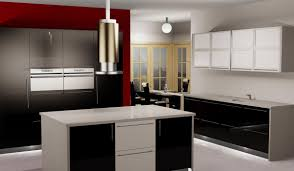 custom kitchen cabinets counters and islands in 3d
