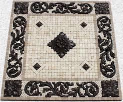 mosaic medallions metal coat tile signs