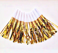 new years party blowers blowers 10 fringe party horns metallic gold noise diy garlands