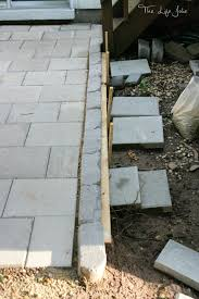 Paver Patio Diy Diy Paver Patio