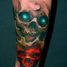 Forearm Skull - decorative skull 2 skull forearm on tattoochief com