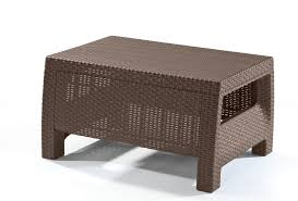 Wenge Coffee Tables Keter Corfu Resin Coffee Table All Weather Plastic Patio