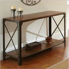 Side Table In Living Room American Country Wrought Iron Wood Console Table Desk Side Table