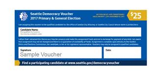 seattle u0027s new u0027democracy vouchers u0027 what they are and how to use