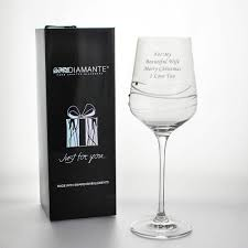 Godmother Wine Glass Personalised Wine Glass Adorned With Beautiful Swarovski Crystals