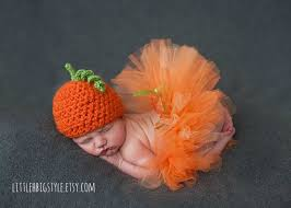 Girls Pumpkin Halloween Costume Pumpkin Tutu Hat Newborn Halloween Costume