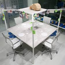 Modular Desks Office Furniture Fantoni S Hub Modular Desk Unit Acts Like A Wall Less Box