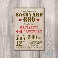 vintage backyard bbq birthday party invitation pictures page