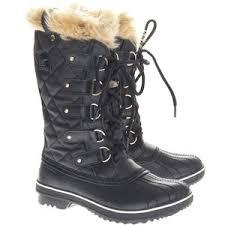 sorel tofino womens boots size 9 sorel tofino black faux fur boots polyvore