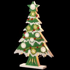 national tree company pre lit 17 in wooden christmas tree mzc