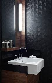 powder rooms with wallpaper 20 black powder room ideas for 2018