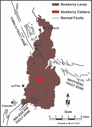 Oregon Volcano Map by 3 Field Guide To The Newberry Volcano And Christmas Valley Fort
