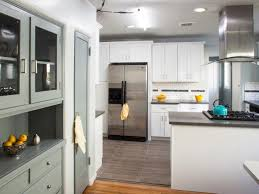 dazzling white shaker kitchen cabinets grey floor contemporary