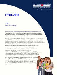 pb0 200 apc apc ncpi design visit pass4sureofficial com is ppt