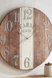 lanier rustic wood wall clock wall clocks decoration
