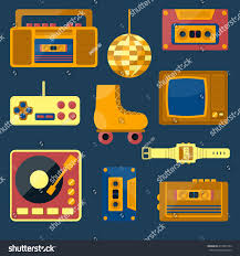 60s design vector illustration cartoon retro 1980 60s stock vector 417890722